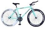 Helliot Bikes Erwachsene Fahrrad Single Speed Fixie Brooklyn H41, Grün, M, 889957339018