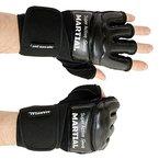 MMA Handschuhe Profi - professionelle Qualität - hochwertige Konstruktion - Boxen, Training, Sandsack, Boxsack, Freefight, Grapling, Kampfsport - Schwarz - Boxhandschuhe