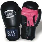 """BAY® """"Future"""" Boxhandschuhe SCHWARZ / PINK 6 8 10 Unzen UZ OZ Box-Handschuhe, Leder-PU Boxen Kickboxen Thaiboxen MMA Muay Thai K-1 K1 (10 Unzen)"""