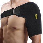 Yosoo Schulterbandage, Neopren Verstellbare Schulter Compression Brace Schulter Verpackungs-Gurt-Band für Rotatorenmanschette Verletzungen AC Gelenkluxation Prävention und Erholung, Passend für linke oder rechte Schulter