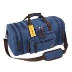 Fafada 40L Canvas Sporttasche Reisetasche Großräumige Handtasche Schultertasche Blau