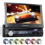 """XOMAX XM-VRSUN741BT Autoradio / Moniceiver / Naviceiver mit GPS Navigation + Navi Software inkl. Europa Karten (38 Länder) + Bluetooth Freisprechfunktion + 7""""/18cm Touchscreen Display in 16:9 HD Auflösung (800 x 480 px) + Ohne CD-Laufwerk + USB Anschluss (bis 128 GB) + Micro SD Speicherkarten Slot (bis 128 GB) + MPEG4, MP3, WMA, AVI, DivX etc. + Anschlüsse für Subwoofer, Rückfahrkamera & Lenkradfernbedienung + Single DIN (1DIN) Standard Einbaugröße + inkl. Fernbedienung, Einbaurahmen"""