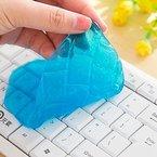 Valenth Auto Keyboard Magic Clay Valenth Clear Transparent Clay Reinigungsknetmasse für Car Interior Computer Keyboard Office Equipment blue