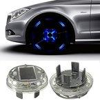 Eximtade Autoreifen Reifen LED Licht Solarenergie Taschenlampe Auto Dekoration Lampe