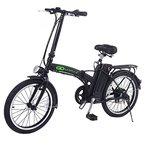 GOPLUS 20 Zoll Elektrofahrrad E-Bike E-Faltrad Klappfahrrad 36V 10AH 250W klappbar (schwarz)