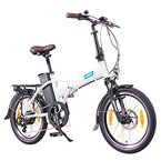 NCM London 20 Zoll Elektrofahrrad,E-Faltrad,E-Bike,Pedelec,Klapprad,36V 250W Bafang Motor, 36V Li-Ion Akku mit 14Ah PANASONIC Zellen,weiß,dunkel blau,schwarz,anthrazit (Weiß)