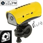 Multi-Function Outdoor Sport DVR/Fahrrad Dvr/Helm Dvr, Mp3Player + FM Radio + LED Flashlight Function, unterstützt TF Card, dv-009(Yellow)