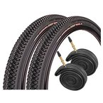 "Kenda Small Block Eight 26"" x 2.1 Mountain Bike Tyres with Presta Tubes (PAIR)"