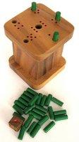 6 raus - sechs raus - Weg mit der sechs - warum immer ich - 6 weg - Würfelspiel in schöner Spielbox aus edlem Samena Holz