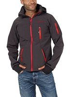 Fifty Five Herren Jacke Softshelljacke Alert mit Tex Membrane, Grau (Anthracite/Red 005), Large