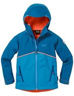 Jack Wolfskin Jungen Frosty Wind Jacket Boys Softshelljacke, Brilliant Blue, 164
