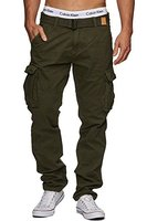 INDICODE William Herren Cargohose Pants inkl. Gürtel Beetle L