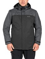 Jack Wolfskin Herren Echo Lake Men 3-In-1 Jacke, Dark Iron, XL
