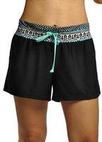 Damen UV Schutz Badeshorts Schwimmen Bikinihose Wassersport Schwimmshorts Boardshorts Bluemenblau L