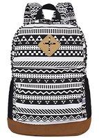 Coofit Herren Damen Vintage Casual Canvas Schultaschen Segeltuch Taschen Freizeitrucksack