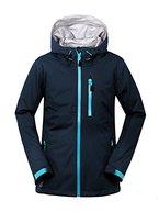 aparso Damen Regenjacke 3-Lagen Outdoorjacke Funktionsjacke Hardshell Jacke wasserdicht atmungsaktiv (L, Blau)