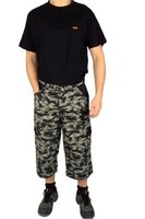 Arbeitshose Skaterhose 7/8 Hose in Camouflage Army Muster, M