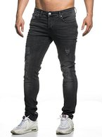TAZZIO Slim Fit Herren Destroyed Look Stretch Jeans Hose Denim 16525 31/30