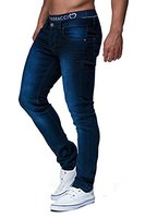 LEIF NELSON Herren Hose Jeans Jeanshose Freizeithose Denim LN303; W32L34, Blau