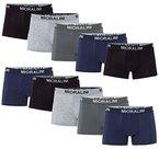 Sparpack! 10 weiche & elastische Herren Retroshorts Retropants Boxershorts in klassischen Farben aus Baumwolle mit Elastan Retroshort S M L XL 2XL 3XL