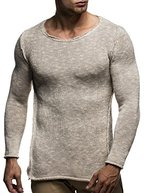 LEIF NELSON Herren Strickpullover Pullover Sweatshirt LN20709; Grš§e L, Beige