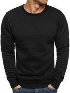 OZONEE Herren Sweatshirt Langarmshirt Pullover Warm Basic J. STYLE 2001-10 XL SCHWARZ