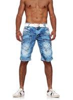 Herren Jeans Shorts Kurze Hose Vintage mit Nieten by Redbridge blau W33