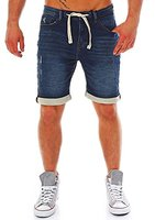 Sublevel Herren Shorts Jogg Jeans LSL-134, Sweat Bermuda darkblue 31