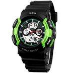 Kinder-Armbanduhr Jungenuhr Mädchenuhr Leuchtende Uhr Multifunktionsuhr Analog Digital Uhr - Grün