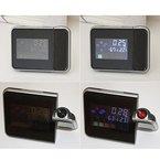 Generic Modern Digital Tischuhr Alarm Multifunktion Uhr Wetter LCD-Display mit Kalender Thermometer Hygrometer Anzeige , 14.5x10.5x6cm - Schwarz