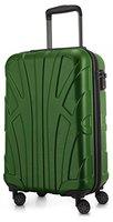 Suitline - Handgepäck Hartschalen-Koffer Koffer Trolley Rollkoffer Reisekoffer, TSA, 55 cm, ca. 33 Liter, 100% ABS Matt, Grün