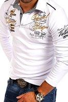 MT Styles Langarm Poloshirt NEWPORT T-Shirt R-0742 [Weiß, XL]