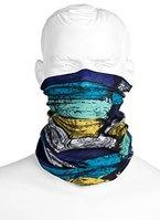 Premium Multifunktionstuch Blau Gestreift | Sturmmaske | Paintballmaske | Bandana | Schlauchtuch | Halstuch | Maske für Motorrad Fahrrad Ski Paintball