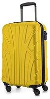 Suitline - Handgepäck Hartschalen-Koffer Koffer Trolley Rollkoffer Reisekoffer, TSA, 55 cm, ca. 33 Liter, 100% ABS Matt, Gelb