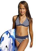 Kinder Kinder Mädchen Bikini Badebekleidung dunkelblau Marineblau, dark Blue navy