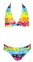 Landora® Mädchen Neckholder Bikini mehrfarbig -- Oeko-Tex® Standard 100 in Größe 128
