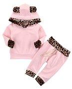 Neugeborenes Baby Mädchen Warm Hoodie T-Shirt Top + Hose Outfits Set Kleidung Set (6-12 Monat)