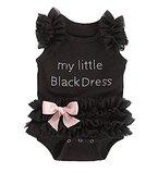 Le SSara BabyMädchenschwarzePrinzessinStramplerBabyBodysuitKostüm-Outfits (0-6 Monate)