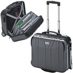NOTEBOOKTROLLEY BUSINESSTROLLEY PILOTENTROLLEY mit Notebookfach POLYCARBONAT 39099
