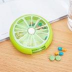 Dreh Pill-Box Tablettendose Pillenbox Tablettenbox Mini Medizin Süßigkeitsgummireise Lagerung Fall Nett Cyan - Gruen