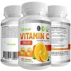 Vitamin C 1000mg, 365 Tabletten, XXL Vorratspackung, vegane Tabletten, hochdosiert, Vit4ever