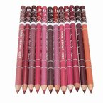Generische 12 Farben Professionelle Lipliner Wasserdichte Lip Liner Lippenstift Lippenkonturenstift mit Deckel 15CM