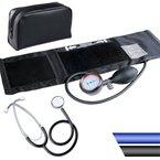 Blutdruckmessgerät mit Klettmanschette inkl. Stethoskop und Aufbewahrungstasche