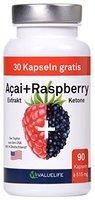 Acai Berry + Raspberry Ketone + Colanuss + Folsäure - Pro Fettverbrennung - Pro Stoffwechsel - Pro Wohlbefinden - 90 Kapseln à 515mg (1*46,4g)
