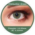 Grüne Farbige Kontaktlinsen 3 Monatslinsen ohne Stärke Design: Distinctive Green