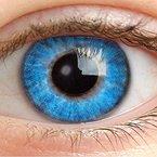Farbige Kontaktlinsen Ohne Stärke Blau Weiche Blaue Natürliche Jahreslinsen Farblinsen Linsen 0 Dioptrien 14.5 mm - Blue Water 3 tones ec-a16