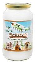 Kokosöl für Tiere 1000ml - ein natürlich wirksamer Schutz gegen Zecken, Milben, Parasiten & Fellpflege ohne Chemie