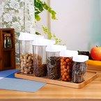 5x Stück Vorratsdose, Schüttdosen Set Storage Box Prämie Food Box Schärfer Food Container Box für Küche, aus Lebensmittelqualität Kunststoff