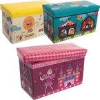 Staubox / Spielzeugbox / Aufbewahrungsbox / Spielzeugkiste in 3 verschiedenen Designs (Zoo)