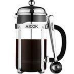 Aicok Kaffeebereiter Caffettiera French Press Glas 8 Tassen 1,0 Liters